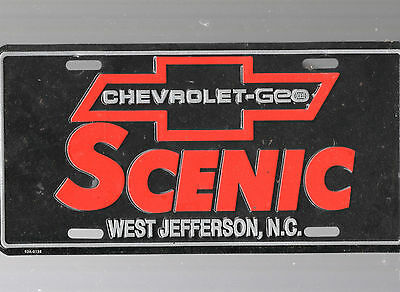 Scenic Chevrolet Dealership License Plate Car Tag-West Jefferson, North Carolina