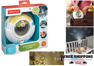 Musical crib Projector Soother dresser or on the go sleep Fisher-Price 3-in-1