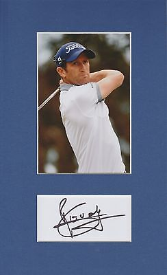 Gregory Bourdy (Golf - European Tour) Signed Photo Mount