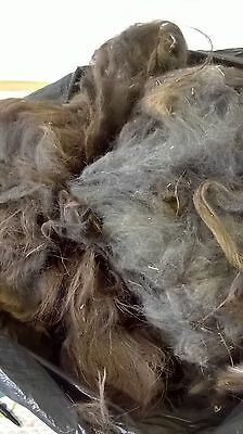 Llama blanket fleece. 1.8kg. Dark grey/dark brown. Lot 100