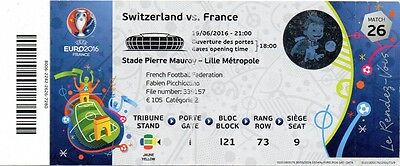 France Suisse Euro 2016 Match 1 Used Ticket Collection Football Fff Switzerland