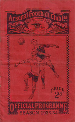 Arsenal v. Vienna XI 4/12/1933 Friendly