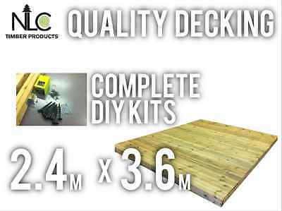 Quality Decking Kit 2.4m x 3.6m with Everything Screws Membrane Joist Hangers