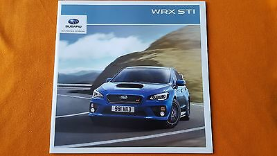Subaru WRX STI marketing paper brochure sales catalogue 2015 MINT WR X WRC Burns