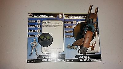 P Star Wars Miniatures Fringe Swoop Bike & Gang Member