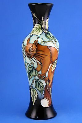 Moorcroft Red Squirrel Trial Vase, Shape 93/10, Dated, Perfect Best Quality