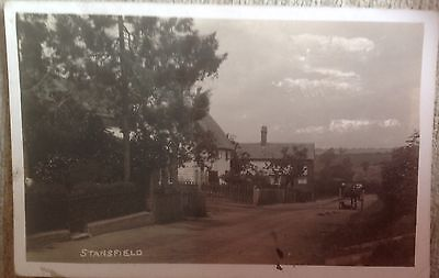 Stansfield Postcard Showing Horse And Cart And Houses (1920)