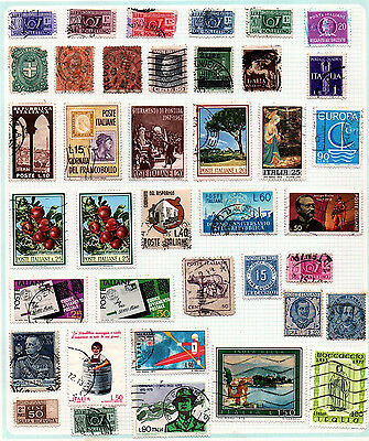 Stamps, Italy, 87 on 4 pages.