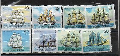Small Lot Of Sailing Ships Samoa 8 Stamps At Least Mint Exceptional Quality