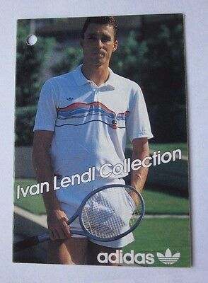 Ivan Lendl on an Adidas Clothing Tag Tennis Great Scarce Item Mint Condition