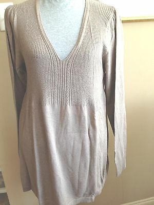 Duo  Solid Taupe Sweater Pull overhead Size XL Box 3