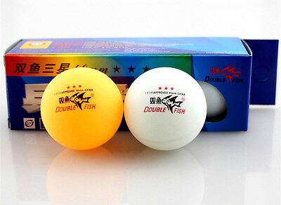 6 Pcs Double Fish 3 stars Ping Pong Table Tennis Balls 40mm Olympic Quality
