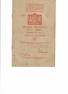 WW2 British Signal Training All Arms Pamphlet No.1 Signalling Codes 1942 Pg.16