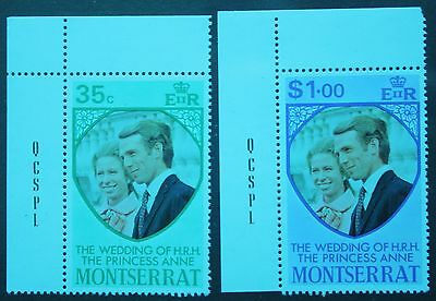 Montserrat 1973. Royal Wedding. Set of 2. S.G.322-323. Unmounted Mint.