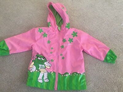 Girls Raincoat 3T Pink & Green From M&M World Store