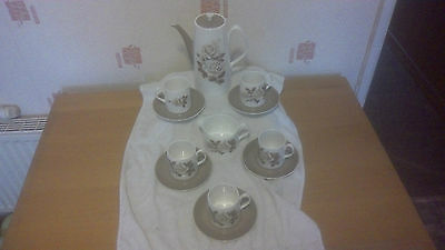 Queen Ann China Coffee Set With Coffee Pot