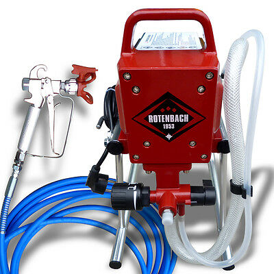 Airless Paint Sprayer Professional HIGH PRESSURE Spray Gun Fence Wall Machine UK