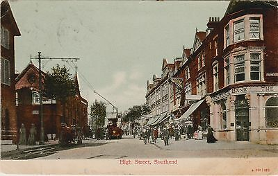 3 EARLY ESSEX POSTCARDS: SOUTHEND ON SEA street scenes