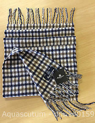 Aquascutum Scarf BRAND NEW 100% Lambswool Scarf with Tags