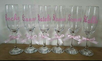 Personalised Wedding Wine Glass Name Vinyl Stickers/Decals, Favours, Any colour.