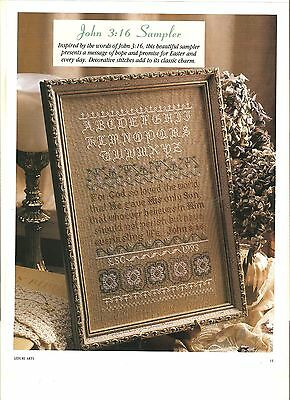"Counted Cross~Stitch Chart For ""john 3:16"" Sampler"