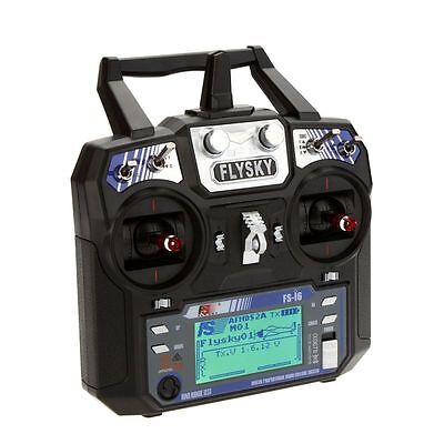 Flysky FS-i6 6CH 2.4G AFHDS 2A LCD Transmitter iA6 Receiver Mode 2/1 Radio Syste