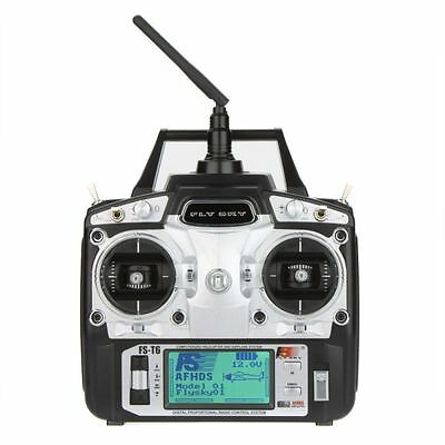 Flysky FS-T6 6CH 2.4G LCD Transmitter R6B Receiver Digital Radio System for RC H