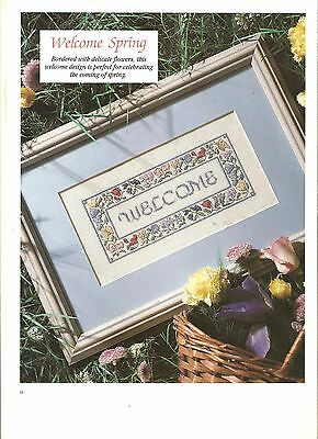 "Counted Cross~Stitch Chart For "" Welcome*spring"" Sampler Picture"