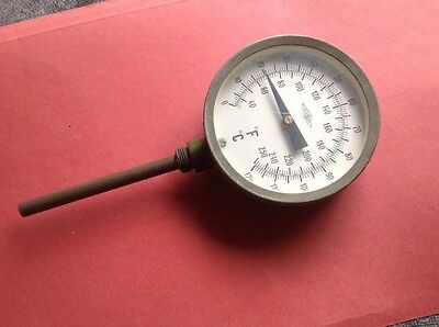 Old Brannan Boiler? Thermometer. O - 120C, 32-250F Large Dial