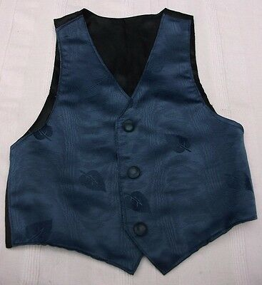 Boys Navy Waistcoat Wedding Party Special Occasion 5-6yrs