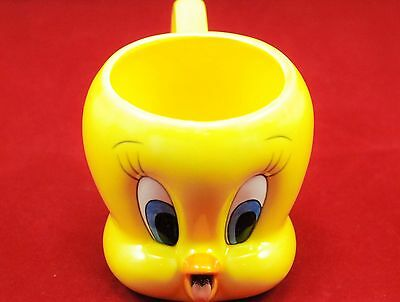 Tweety Bird Coffee Mug Warner Brothers 3D 1995 Yellow Cartoon Collectible Cup
