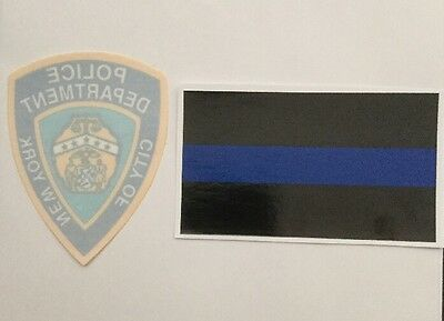 NY-NYC,  NYPD Police InWindshield Decal & Thin Blue Line Police Sticker