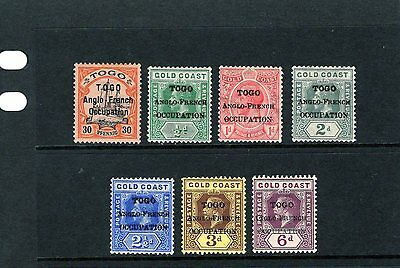 TOGO  1914-15 issues to 6d , fresh Mtd MINT