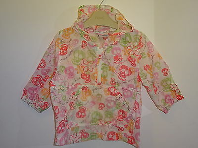 Next - Lovely Baby Girls Floral Skull Light Weight Coat Jacket 9-12 Months VGC