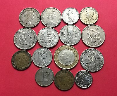 World vintage Coins ,mixed 15 Coins .