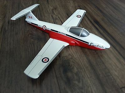 Canadair CT-114 Tutor Snowbirds Large Wood Model Airplane/ wall stand