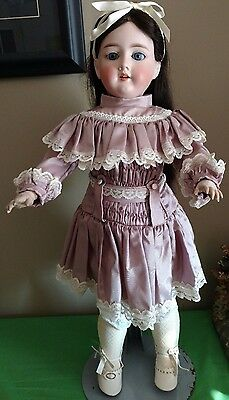 """Antique French Looking 23"""" Bisque Head Composition Body Doll"""