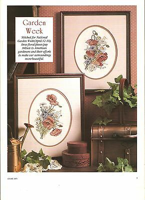 "Counted Cross~Stitch Chart For ""garden*week"" 2 'antique Floral' Designs"