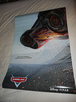 "Walt Disney Pixar CARS 3 official movie poster one sheet DS 27""x40"""