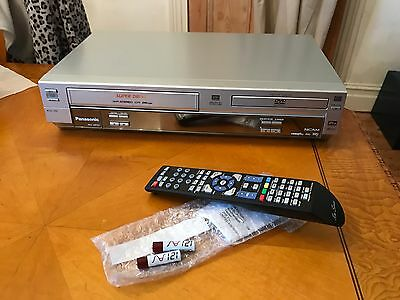 Silver Panasonic NV-VP31 DVD and VHS Video Player Combo Fully Tested and Working