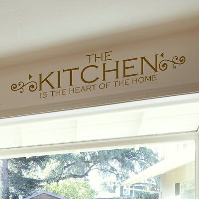 Heart of the Home Kitchen Wall Stickers Quote Decal Vinyl Transfer SML/BRO kq15