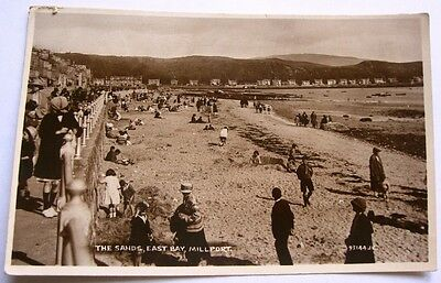 The Sands East Bay Millport Great Cumbrae c1924 Old RP Valentine's Postcard