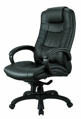 Nicer Furniture® Executive High Back Chair (Real Leather)
