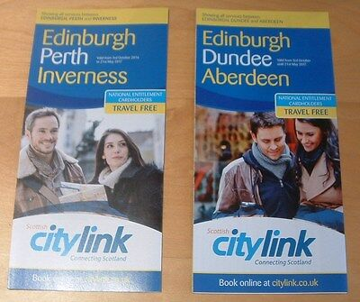 Scottish Citylink Bus Timetables -  Edinburgh To Inverness And Aberdeen Services