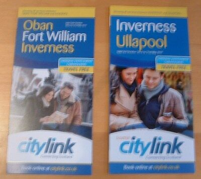Scottish Citylink Bus Timetables -  Oban Fort William Inverness And Ullapool