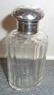 Vintage Silver Top Perfume Bottle - Hallmarked Ghj *rare*