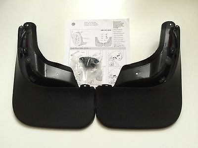 Genuine Brand New Vw Golf Vi Plus 2009 -2014 Front And Rear Mud Flaps Set