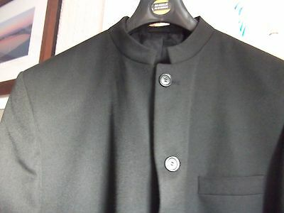Beatles/ Nehru style mens jacket/coat XL+ black ...super condition (see photo's)