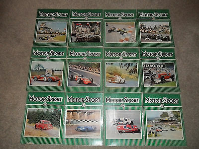 All 12 MOTOR SPORT Car Magazines From 1966