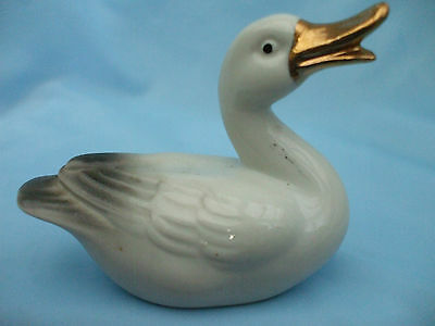 Collectable Ceramic Duck Bird Ornament Laying